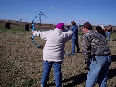 Photo of WITO Event archery instruction held at Jim Edgar Panther Creek State Fish & Wildlife Area (JEPC) in Cass County.